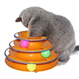 <span class='highlight'><span class='highlight'>Ruluti</span></span> 1PC Tower Of Tracks Ball And Track Interactive Toy For Cats Fun Cat Toy Game Intelligence Triple Play Disc Cat For Toy Balls,Orange