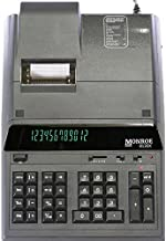 (1) Monroe 8130X 12-Digit Print/Display Professional Heavy-Duty Calculator in Black with Extended Life Calculator Body