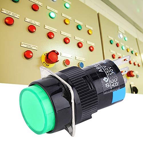 Interruptor de botón de empuje momentáneo rojo, verde, plástico metálico realizado 40 x 18 mm pulsador