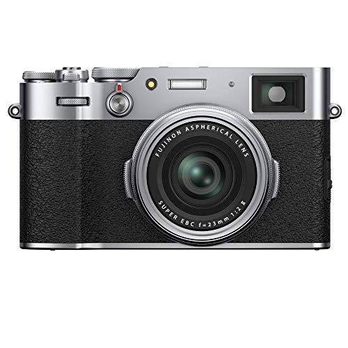 Fujifilm X100V - Cámara con Sensor APS-C de 26.1 Mpx, Plateado, Color Plata
