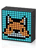 Divoom Timebox Evo ポータブルBluetoothスピーカー 音楽再生/強化された低音/時計付き/ピクセルアート/多機能使用/ハンズフリー通話/256 RGB LED/カレンダー(ブラック)