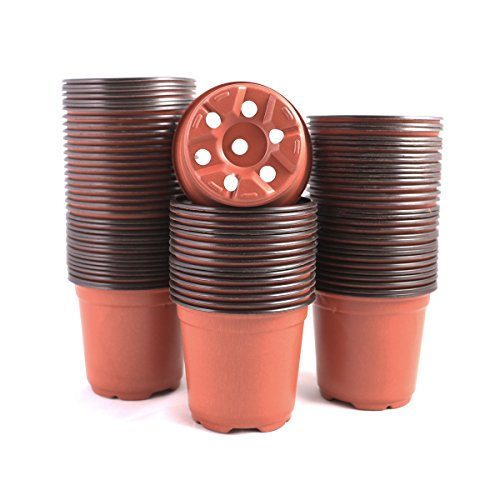 YIKUSH 100 Pcs Plants Nursery Pots Seeding Nursery Pot, Reusable Plastic Plants Nursery Pots Seeding Flower Plant Container Seed Starting Pots