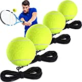 4 Packungen Tennis Training Ball mit Schnur Tennis Trainer Bällen Selbstübung Trainer Werkzeug Tennisball Training Geräte für Tennis Trainer Praxis Übung