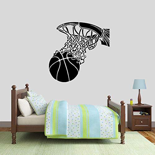 Pegatinas de pared baloncesto y canasta pegatinas de pared puertas y ventanas deportivas calcomanías de vinilo sala de niños adolescentes estadio interior decoración de la pared