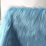 Blau 150x50cm Kunstpelz Long Pile 90mm Stoff Für DIY