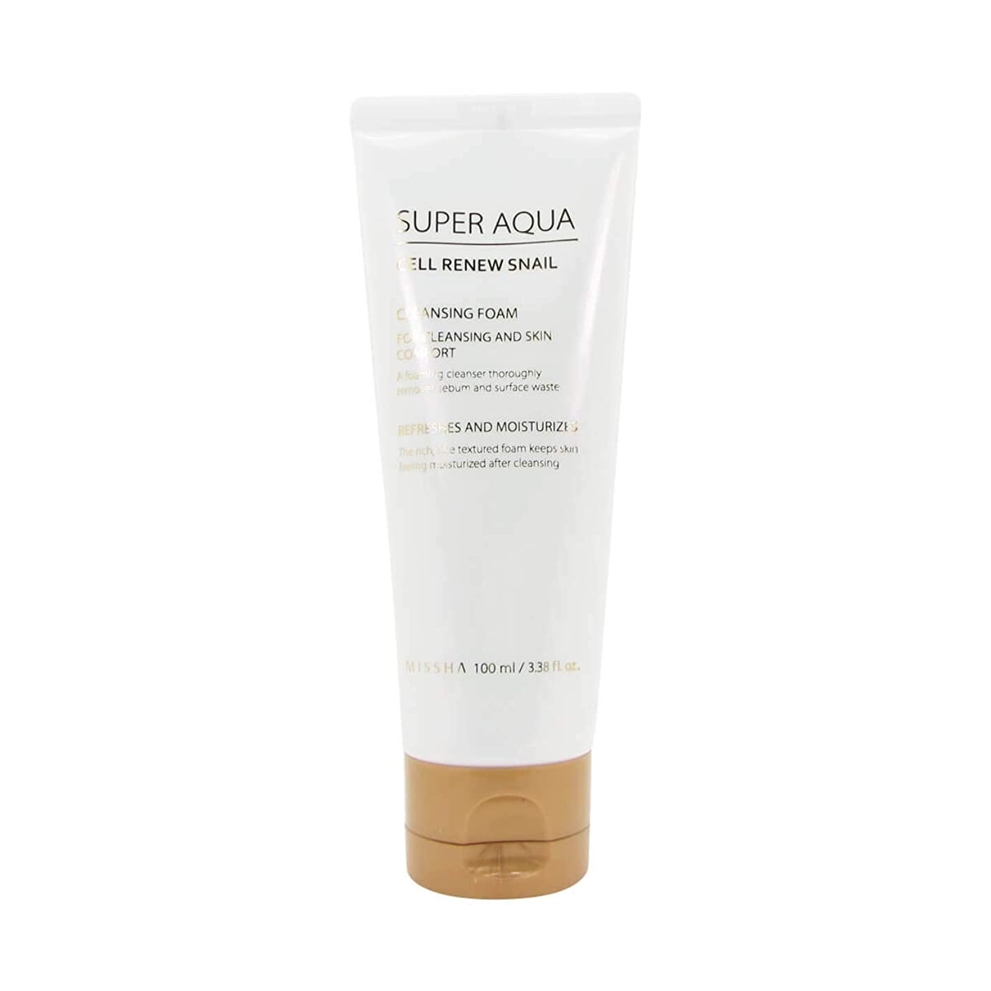 乳白色ライオンシネマMissha Super Aqua Cell Renew Snail Cleansing Foam 100ml