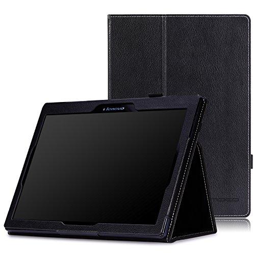 MoKo Lenovo Tab 2 A10 / TAB-X103F Tab 10 Case - Ultra Compact Slim Folding Cover Case for Lenovo Tab2 A10-70 / TAB-X103F Tab 10 / Tab3 10 Business Tablet, BLACK