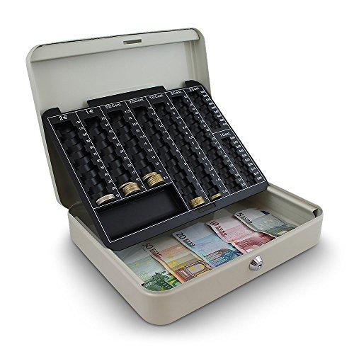 30cm Lichtgrau Geldkassette Münzzählbrett Zähl- und Transportkassette Kasse 300mm