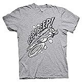 Looney Tunes Oficialmente Licenciado Beep Beep Camiseta para Hombre (Heather Gris), Medium
