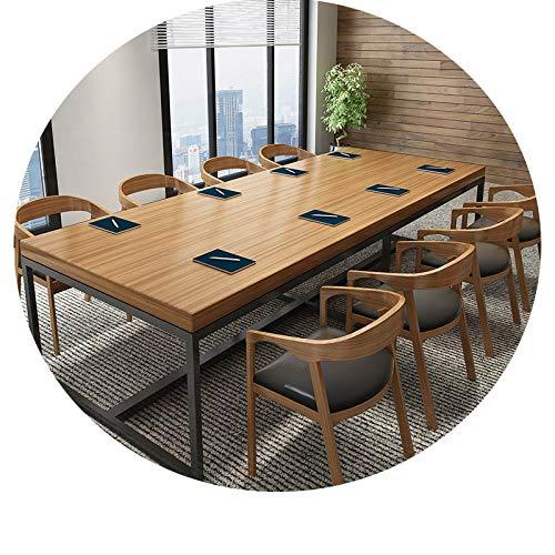 Schreibtisch Aus Schmiedeeisen, Konferenztisch, Langer Tisch, Esstisch, Verhandlungstisch Für Schulungen, Moderner Computertisch,300 * 100 * 75,5 cm...