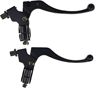 """Fit for Baja Mini Bike Dirt Bike 96cc 200cc 5.5hp 6.5hp Poweka Throttle Hanlde Grips with Cable and Left Brake Clutch Lever Perch for Most Motorcycles and Bicycles with 7//8/"""" Handlebars"""