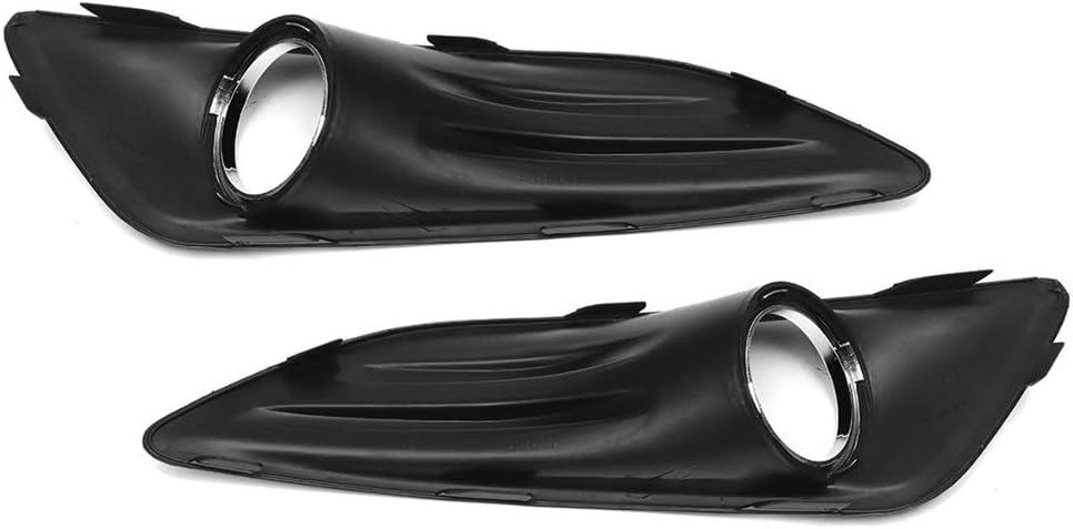Schlagfestigkeit Nebelscheinwerfer Grille Abdeckung Kit Fit For Ford Fiesta 2013 2014 2015 2016 2017 Foglight-Rahmen Mit Birne Gloss Black Styling Grill Trim Nebelscheinwerfer Lampenabdeckung Gitter