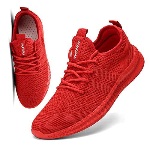 [KULIXIE] スニーカー メンズ ウォーキングシューズ ジョギングシューズ カジュアルシューズ スポーツシューズ トレーニング ランニング シューズ 運動靴 ジム バスケットボール 軽量 おしゃれ 赤 28cm