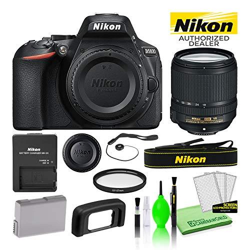 Nikon D5600 24.2MP DSLR Digital Camera with AF-S DX 18-140mm Lens (1577) USA Model Best Value Starter Bundle Kit -Includes- 67mm UV Filter + Battery + Battery Charger + Deluxe Cleaning Kit + More