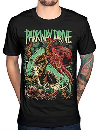 Official Parkway Drive New Sharktapuss T-Shirt Band Merch Metalcore 50 Lions Men