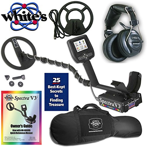 "Whites Spectra V3i Metal Detector with Headphones, 10"" DD &  9"" Concentric..."