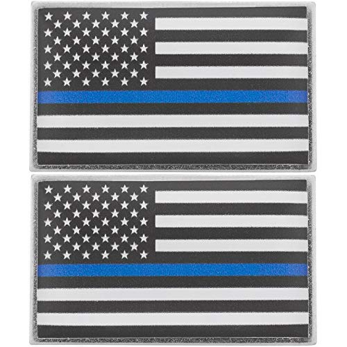 Police Pin - Thin Blue Line American Flag Lapel Pins In Support Of Law Enforcement Officers (2-Pack)