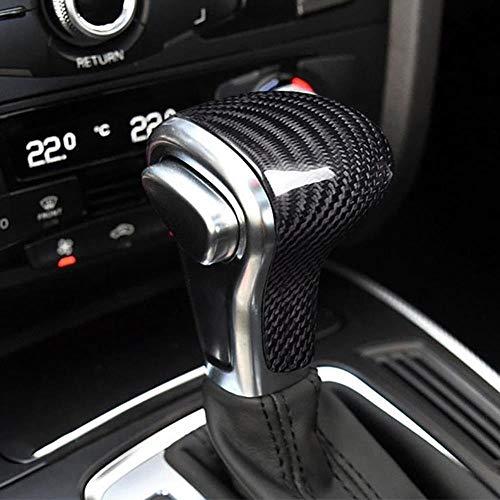 JXSMDG Schalthebelmanschetten hochwertiges Carbon Auto Schalthebelmanschetten Kopf Aufkleber Abdeckkappe Kofferraumabdeckung Gamasche.Für Audi A5 / 6 Q5 Q7