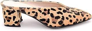 Animal Print: Leopard Patterned Low Heel% 100 Handmade Mule