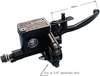 VideoPUP Right Hydraulic Handle Brake 7/8 Lever with 8mm Mirror Hole Good Ideal for Varies 4 Strokes 50cc 70cc 110cc 125cc 150CC ATV Dirt Pit Bikes Brake Part