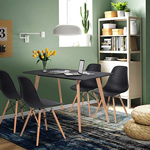 Yata Home Mesa de comedor rectangular para 4 Personas Mesa de comedor...