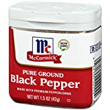 McCormick Ground Black Pepper, 1.5 oz