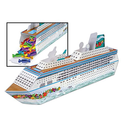 Beistle 54436 Three Dimensional Cruise Ship Table Centerpiece – Party-Zubehör, Papier, mehrfarbig