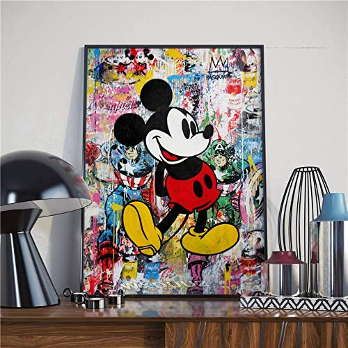 Aquarel cartoon    retro art   wall art foto voor huisdecoratie    canvas 60x80cm