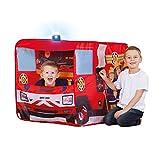 John 78208 Feuerwehrauto Sam mit Blaulicht-Spielzelt, Feuerwehrzelt, Kinderzelt, Spielhaus mit...