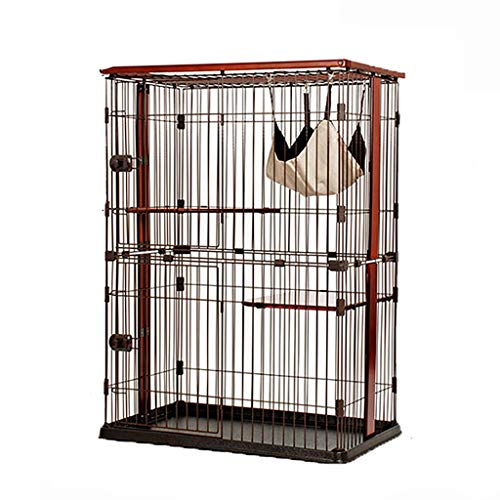 BFSHY Cat Cage Playpen Crate, Metal Wire Pet Cat,Indoor Outdoor Small Animals Hutch,Ideal for 1-2 Pets,with Hammock Tray,for Kitten Ferret Chinchilla