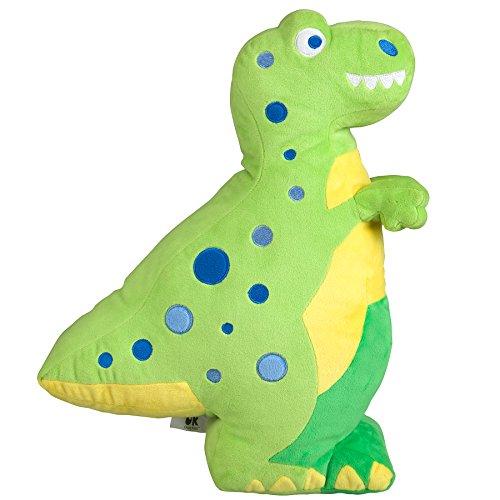 Wildkin T-Rex en Peluche Oreiller, Super Soft Peluche Oreiller, Coordonne avec d'autres literie et Salle de décoration intérieure, Olive Design Enfants