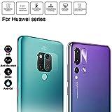 superior ZRL - Protector de Lente de Cristal Templado para Huawei Mate 20 Pro P20 Pro Mate 20X Mate 20 Lite Honor 10 9 8X Lite Play Note 10 Nova 4 3 3i (3 Unidades)