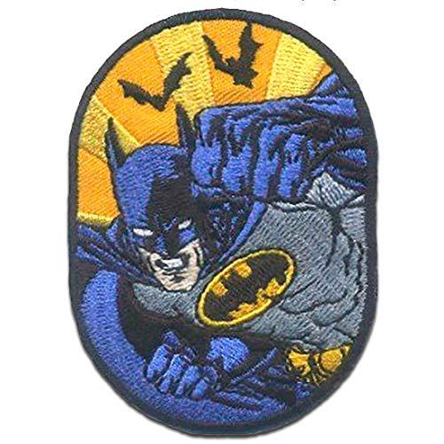 Parches - Batman murciélago - azul - 7,5 x 5,5 cm - termoadhesivos bordados aplique para ropa