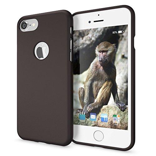NALIA Cover Neon compatibile con iPhone 7, Custodia Protezione Ultra-Slim Neon Case Protettiva Morbido Cellulare in Silicone Gel, Gomma Telefono Smartphone Bumper Sottile, Colore:Nero