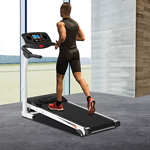 Treadmill Folding Electric Treadmill Motorized Running Jogging Machine with LED Display Shock Absorption 264 LB Max Weight and Folding Running Belt for Home Use (49.2'' x 19.7'' x 44'' (Lx W x H)) Treadmills