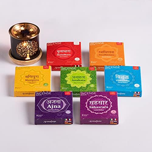Aromafume 7 Chakra Incense Bricks Pack Incense Diffuser (Chakra Value Set)