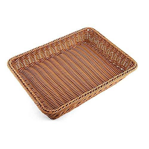 Wardell Cuenco para masas Cesta de mimbre de mimbre imitada cesta de pan de ratán Mejoradas Tela de Lino