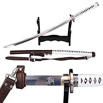 Lyuesword Japanese Handmade Walking Dead Sword-Michonne s Katana Zombie Killer Full Tang Battle Ready
