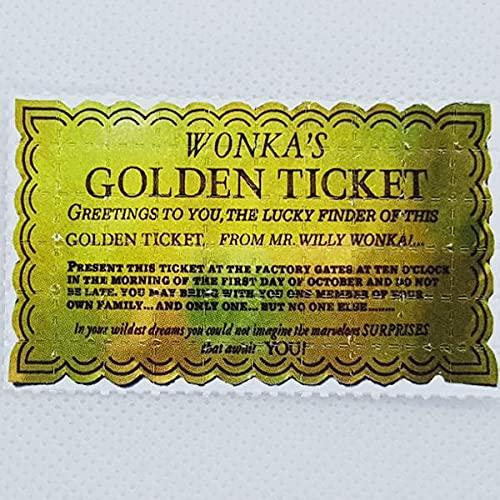 Goldenes Ticket Blotter Art Psychedelisch Kunst LSD Kunst Acid Kunst Papier Psychedelisch Geschenk