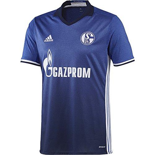 adidas Herren Fußball/Heim Schalke 04 Replica Trikot, blau (Bold Blue/White), S