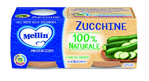 Mellin Omogeneizzato Zucchine - 24 Vasetti da 80 gr
