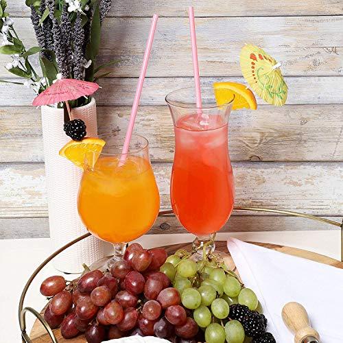 Cocktail Dekoration Papier,50 Stück Cocktail Picks Papier-Regenschirm für Bar Deko Cocktailzubehör Fiesta,Tropical Oder Beach Parties - 5