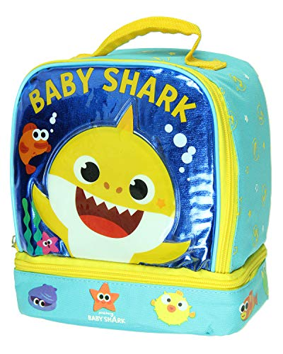 Baby Shark Dual Compartment Lunch Box Tote