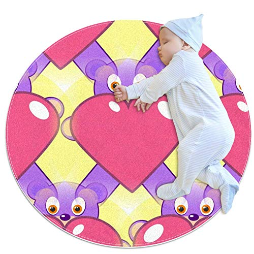 Caring Rabbit Baby Play Mats - Baby Crawling Mats for Boys and Girls - Children's Room Decor for Play Carpet Floor Carpets