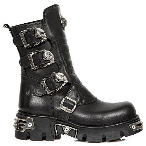 M.391X-S1 unisex metal rock gótico con arranque llamas hebillas negro - ro...