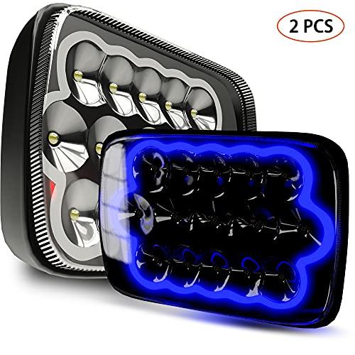 ROLINGER 2PCS H6054 Led Headlights 7x6 5x7 Auto...
