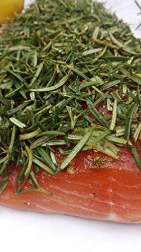 Lachs gebeizt (Graved) mit Honig und frischem Rosmarin 1.1kg ✔ Mit frischen Kräutern und Bio Zitrusfrüchen in eigener Manufaktur hergestellt