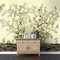 RTYUIHN 大きな壁紙初心者が作った鳥鳥鳥のリビングルームの寝室の壁紙モダンな壁の芸術の装飾