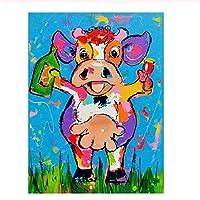 300ピース木製ジグソーパズル 着色された立っている子牛大人子供のゲームおもちゃのストレスリリーフパズル