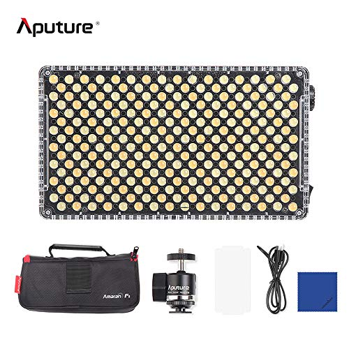 Aputure Amaran AL-F7 256 LED zweifarbige dimmbare LED-Videoleuchte tragbare Videoleuchte Lampe 3200-9500K CRI95 + (aktualisierte Version von Aputure Al-H198)